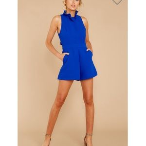 Stop for nothing rich blue romper